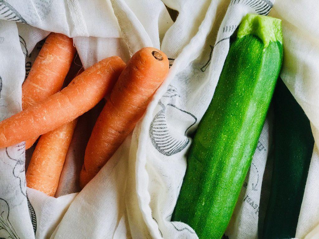 何度でも使える野菜果物用の袋